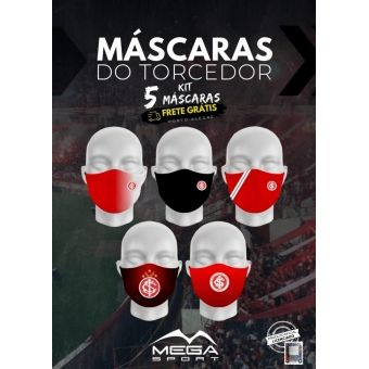 Kit de 5 Máscaras Torcedor Colorado